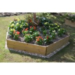 Pentagon Timber Raised Bed
