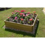 Square Timber Raised Bed